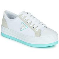 Schuhe Damen Sneaker Low Guess BRODEY Weiss / Blau