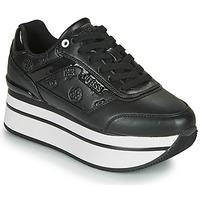 Schuhe Damen Sneaker Low Guess HANSIN Schwarz