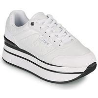 Schuhe Damen Sneaker Low Guess HANSIN Weiss