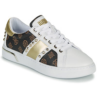 Schuhe Damen Sneaker Low Guess RICENA Weiss / Braun