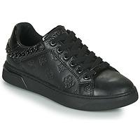 Schuhe Damen Sneaker Low Guess RIYAN Schwarz
