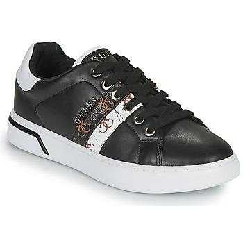 Schuhe Damen Sneaker Low Guess REEL Schwarz