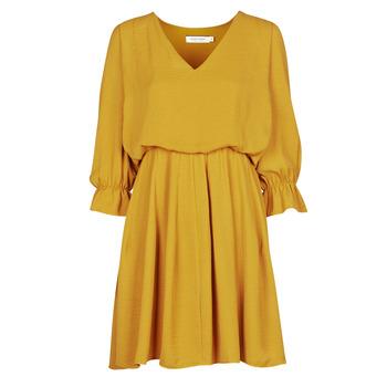 Kleidung Damen Kurze Kleider Naf Naf  Gelb