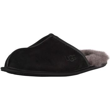 Schuhe Herren Hausschuhe UGG Scuff Lederpantoffeln schwarz