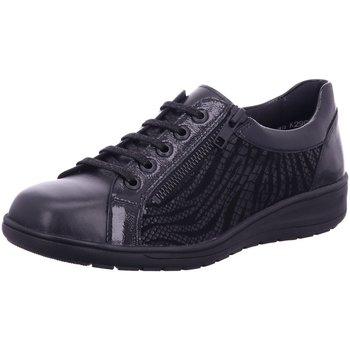 Schuhe Damen Sneaker Low Solidus Schnuerschuhe Kate - Weite K 29001 01001 schwarz