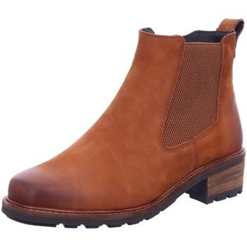 Schuhe Damen Boots Solidus Stiefeletten Kinga brandy 6100530383  2 Weiten !!! braun