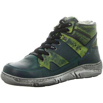 Schuhe Herren Sneaker High Krisbut Schnuerschuhe 6595-2-8 grün