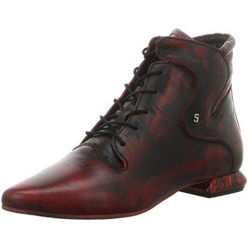 Schuhe Damen Boots Simen Stiefeletten 2855A WEINROT rot