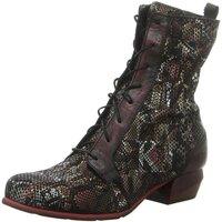 Schuhe Damen Low Boots Simen Stiefeletten 3107A WEINROT rot