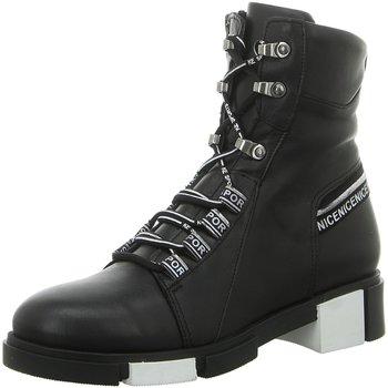 Schuhe Damen Boots Artiker Stiefeletten 47C0577 schwarz