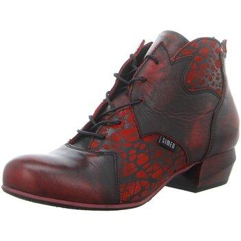 Schuhe Damen Boots Simen Stiefeletten 3192A WEINROT rot