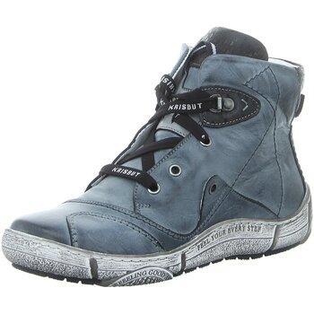Schuhe Damen Sneaker High Krisbut Stiefeletten 3188-3-4 blau