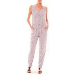 Kleidung Damen Overalls / Latzhosen Dress Code Combinaison Z073  Beige Beige
