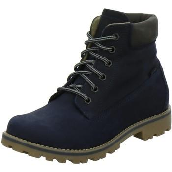 Schuhe Mädchen Stiefel Vado Schnuerstiefel Milan ex 85201 25201-MILAN/101 blau