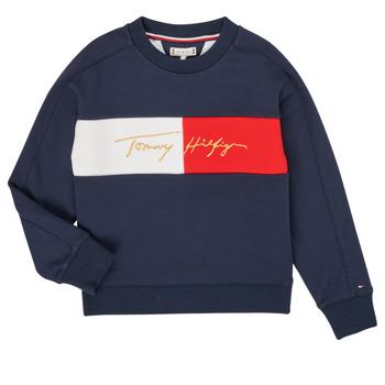 Kleidung Mädchen Sweatshirts Tommy Hilfiger KG0KG05497-C87-J Marine
