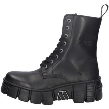 Schuhe Damen Ankle Boots New Rock NRSM-WALL026NBASA SCHWARZ