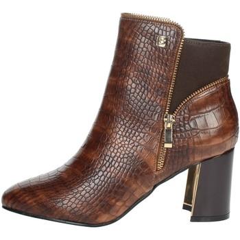 Schuhe Damen Low Boots Laura Biagiotti 6580 Braun Leder