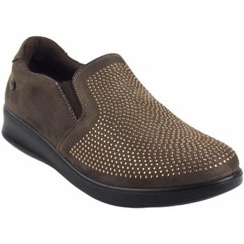 Schuhe Damen Slipper Amarpies Damenschuh  18839 ast taupe Braun
