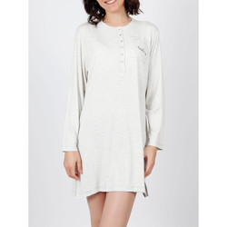 Kleidung Damen Pyjamas/ Nachthemden Admas Nachthemd Do Not Forget To Smile grau Hellgrau