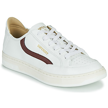 Schuhe Herren Sneaker Low Superdry BASKET LUX LOW TRAINER Weiss