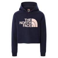 Kleidung Mädchen Sweatshirts The North Face DREW PEAK CROPPED HOODIE Marine