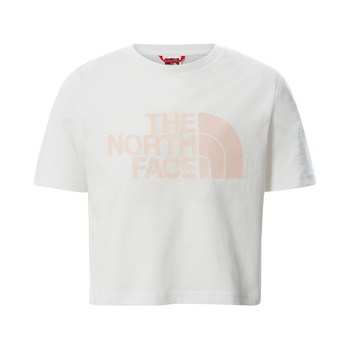 Kleidung Mädchen T-Shirts The North Face EASY CROPPED TEE Weiss