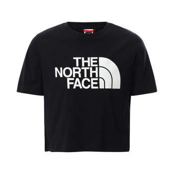 Kleidung Mädchen T-Shirts The North Face EASY CROPPED TEE Schwarz