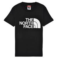 Kleidung Jungen T-Shirts The North Face EASY TEE Schwarz