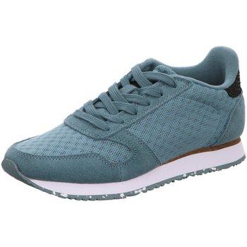 Schuhe Damen Sneaker Low Woden Ydun Suede Mesh II WL030 blau