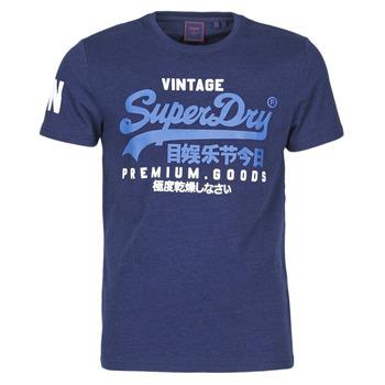 Kleidung Herren T-Shirts Superdry VL NS TEE Blau