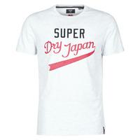 Kleidung Herren T-Shirts Superdry COLLEGIATE GRAPHIC TEE 185 Grau