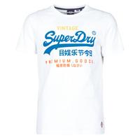 Kleidung Herren T-Shirts Superdry VL TRI TEE 220 Weiss