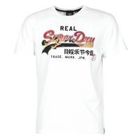 Kleidung Herren T-Shirts Superdry VL ITAGO TEE 220 Weiss