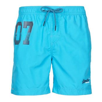 Kleidung Herren Badeanzug /Badeshorts Superdry WATERPOLO SWIM SHORT Blau