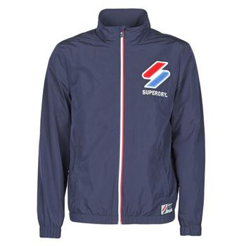 Kleidung Herren Windjacken Superdry TRACK CAGOULE Blau