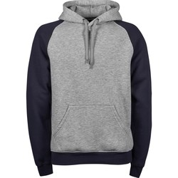 Kleidung Herren Sweatshirts Tee Jays T5432 Grau meliert/Marineblau