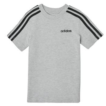 Kleidung Jungen T-Shirts adidas Performance YB E 3S TEE Grau