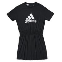 Kleidung Mädchen Kurze Kleider adidas Performance G DANCE DRESS Schwarz