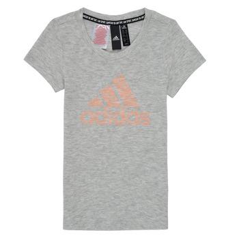Kleidung Mädchen T-Shirts adidas Performance JG A MHE TEE Weiss