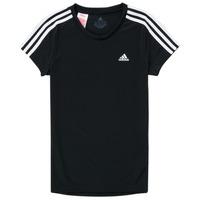 Kleidung Mädchen T-Shirts adidas Performance G 3S T Schwarz