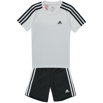Kleidung Jungen Jogginganzüge adidas Performance B 3S T SET Weiss / Schwarz
