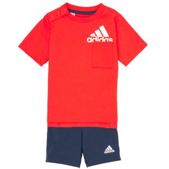 Kleidung Jungen Kleider & Outfits adidas Performance BOS SUM  SET Rot / Schwarz