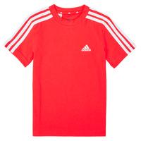 Kleidung Jungen T-Shirts adidas Performance B 3S T Rot