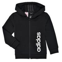 Kleidung Jungen Sweatshirts adidas Performance YB TR 3S FZ Schwarz