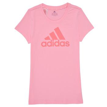 Kleidung Mädchen T-Shirts adidas Performance G BL T Rose