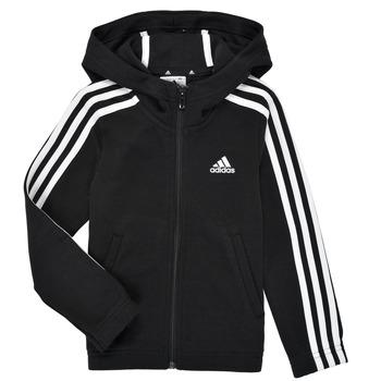 Kleidung Mädchen Sweatshirts adidas Performance G 3S FZ HD Schwarz