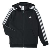 Kleidung Jungen Sweatshirts adidas Performance B 3S FZ HD Schwarz