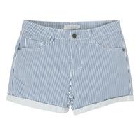 Kleidung Mädchen Shorts / Bermudas Deeluxe BILLIE Weiss / Blau