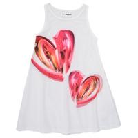 Kleidung Mädchen Kurze Kleider Desigual 21SGVK12-1000 Weiss