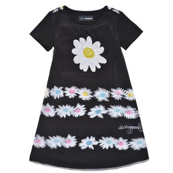 Kleidung Mädchen Kurze Kleider Desigual 21SGVK28-2000 Schwarz